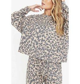 Project Social T Lovin Leopard Sweatshirt
