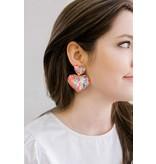 Allie Beads Sequin Heart Earrings