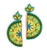 Allie Beads Lime Earrings