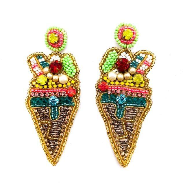 Allie Beads Ice Cream Earrings