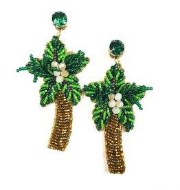 Allie Beads Palm Tree Earrings