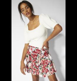 MINKPINK Kind Words Floral Mini Skirt