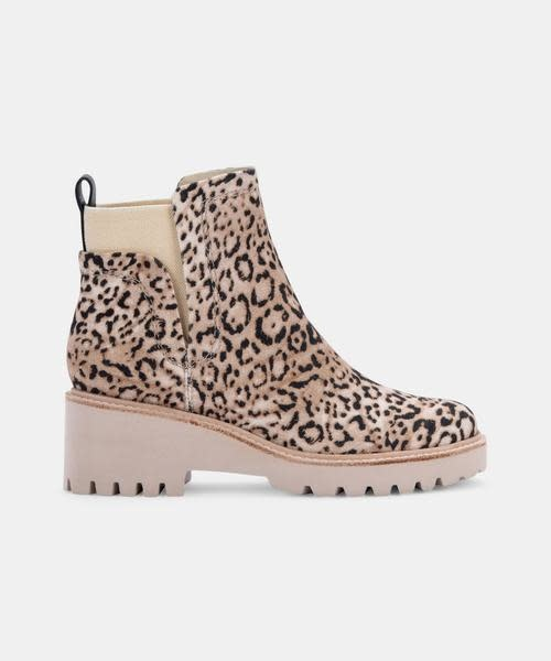 Dolce Vita Huey Leopard Wedge Bootie