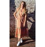 Olivia James the Label Delia Dress in Pink Flutter