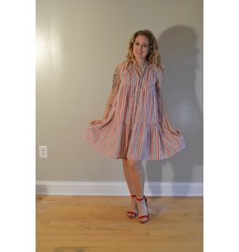 Olivia James the Label Ro Short Dress in Candy Stripe
