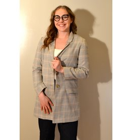 BB Dakota Plaid Behavior Blazer