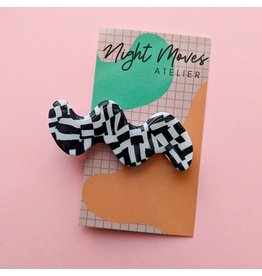 Night Moves Atelier Polymer Clay Static Age Squiggle Hair Clip