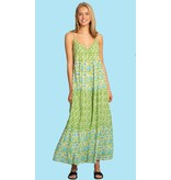 Olivia James the Label Emily Long Dress in Multi Lawn