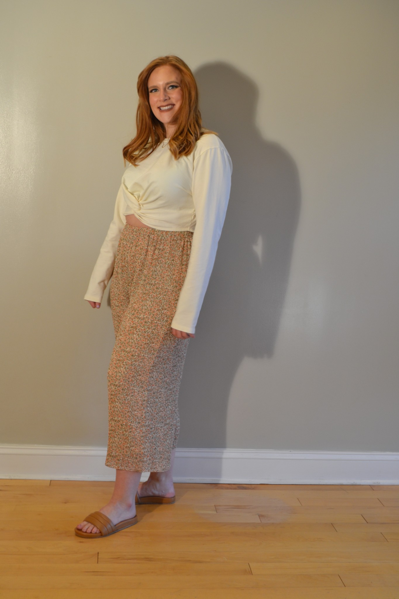 Project Social T Florence Twist Front Top - Ivory