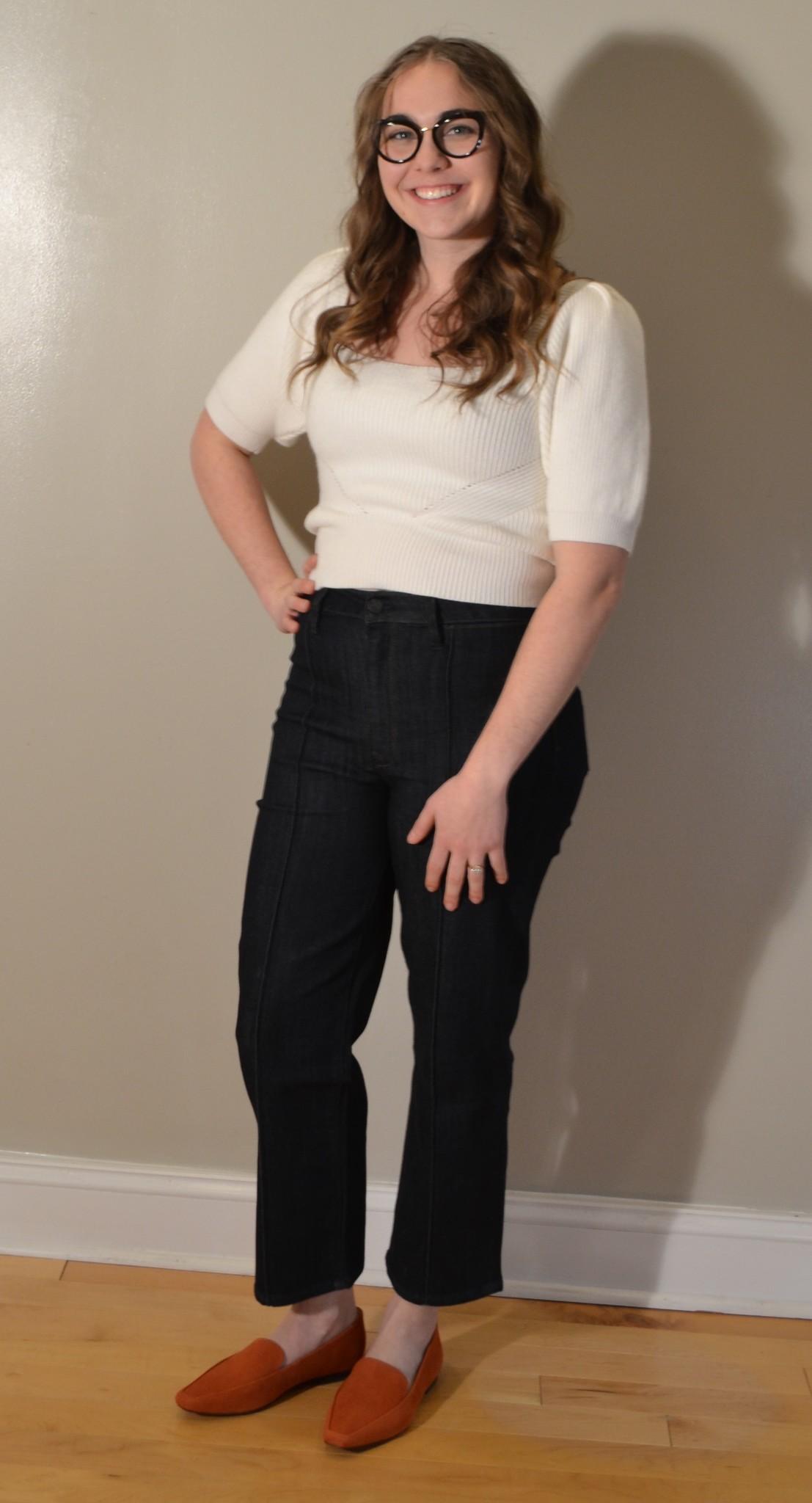 MINKPINK Valerie Knit Top Off White