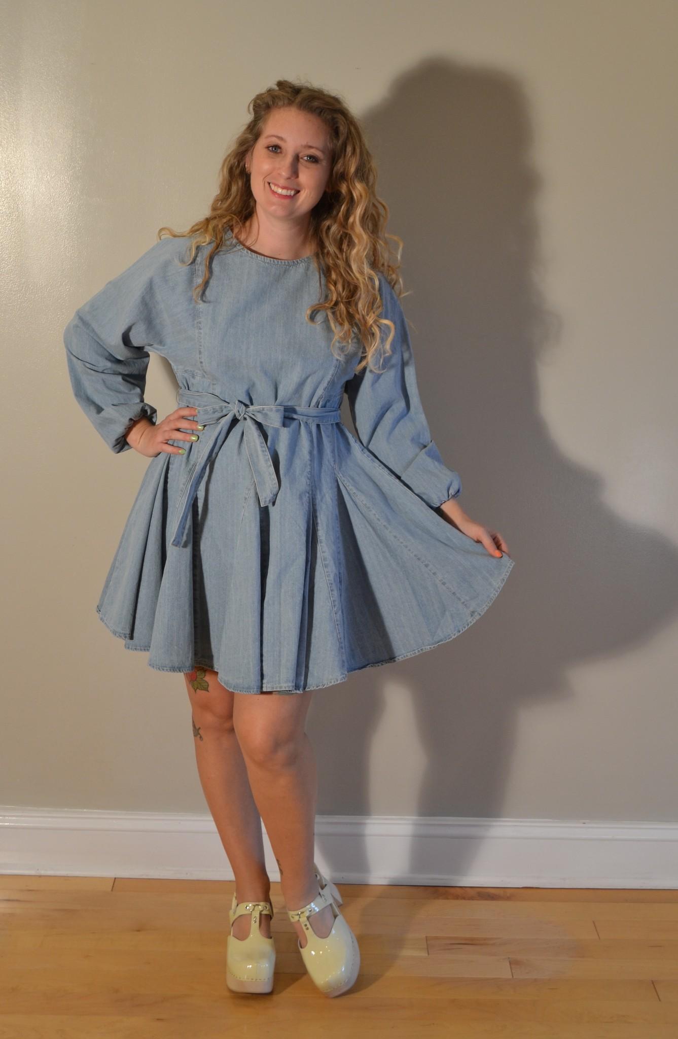 MINKPINK Curious Smock Blue Dress