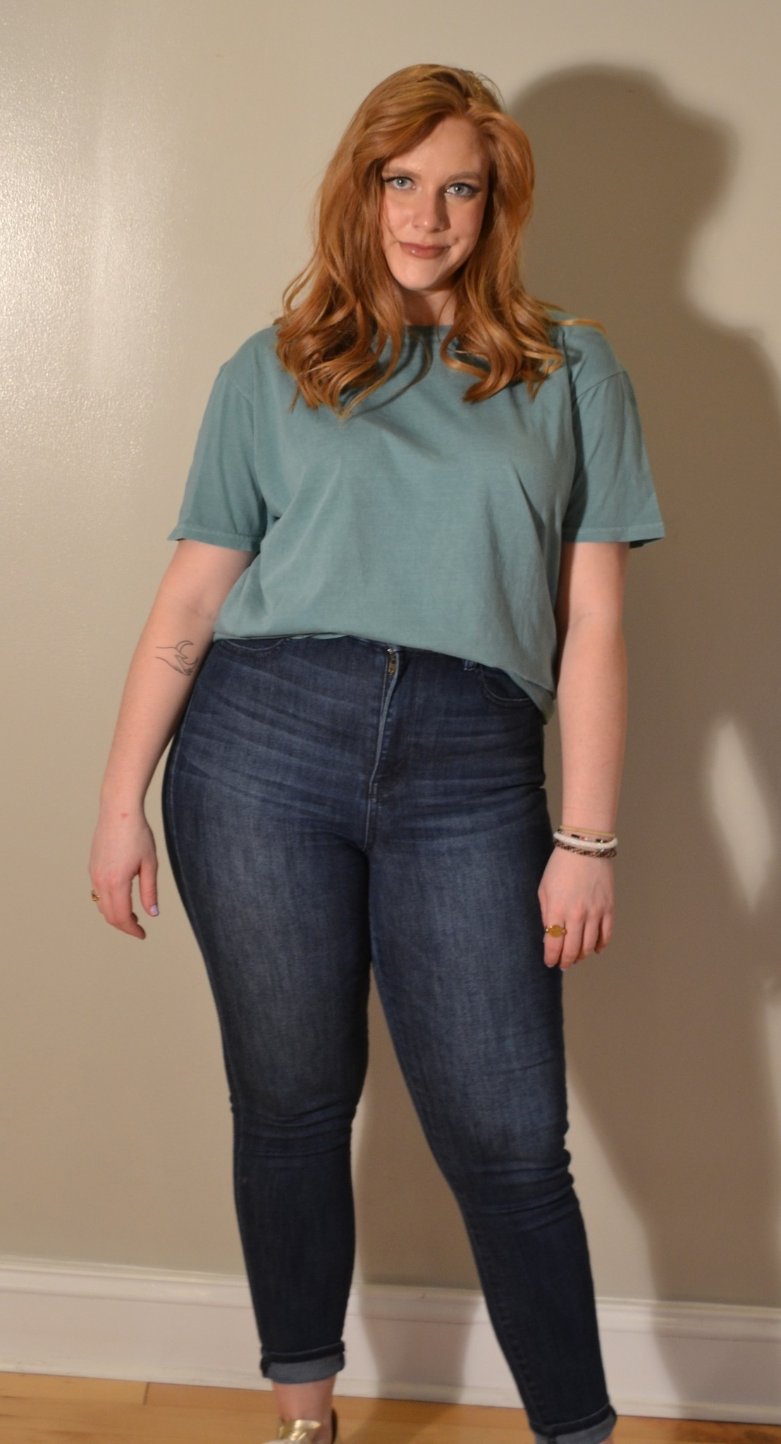 Project Social T Asher Oversized Tee DW Arctic Jade