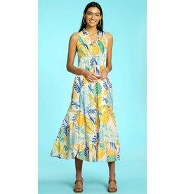 Olivia James the Label Ro Long Dress in Botanical Lemon