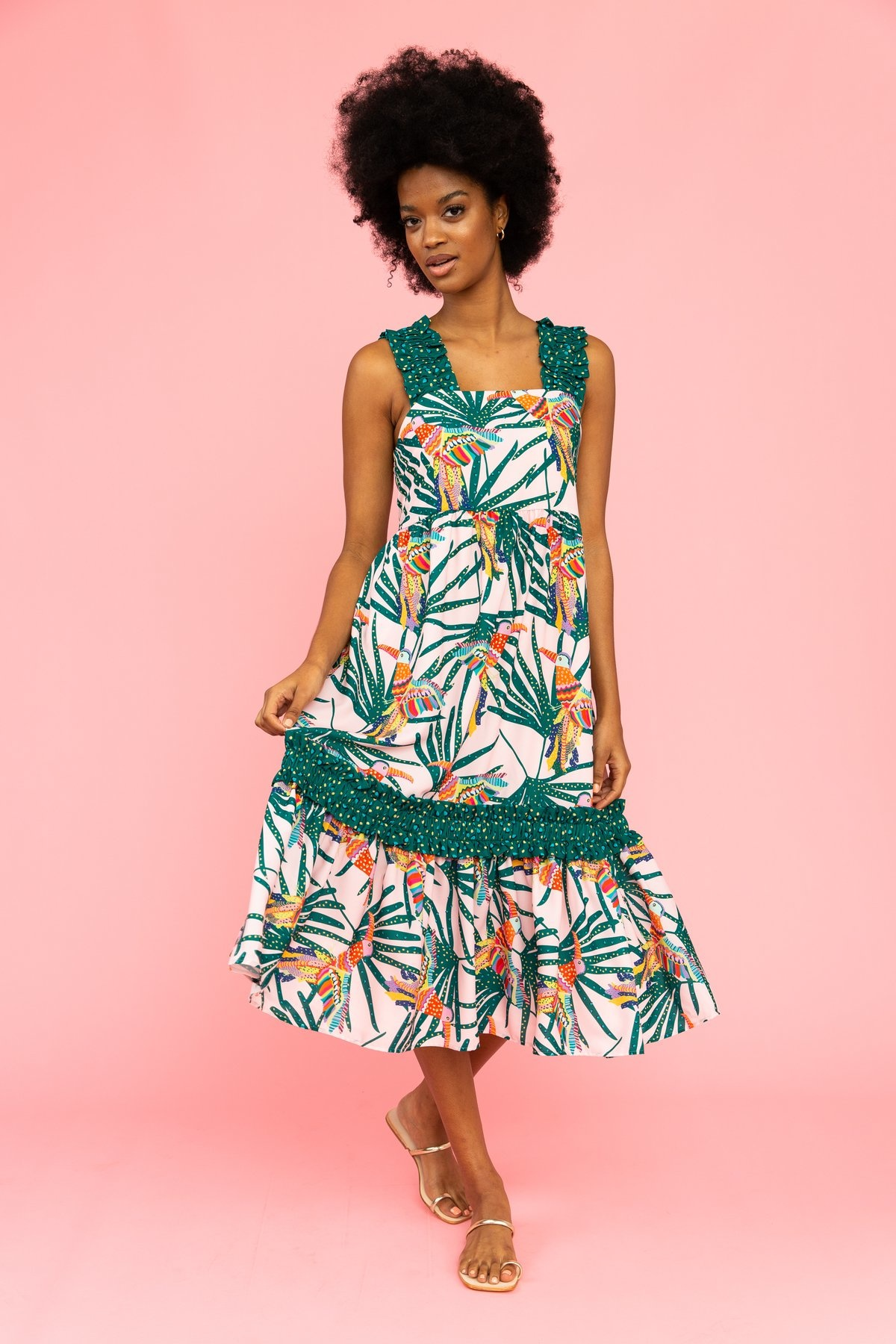 Crosby By Mollie Burch Bowie Dress in Parrot Party
