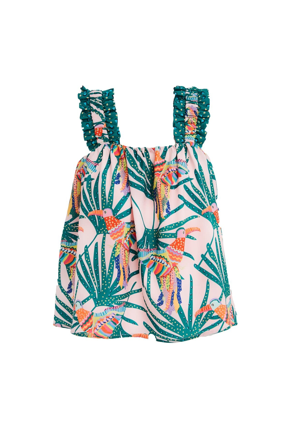 Crosby By Mollie Burch Danny Tank in Parrot Party
