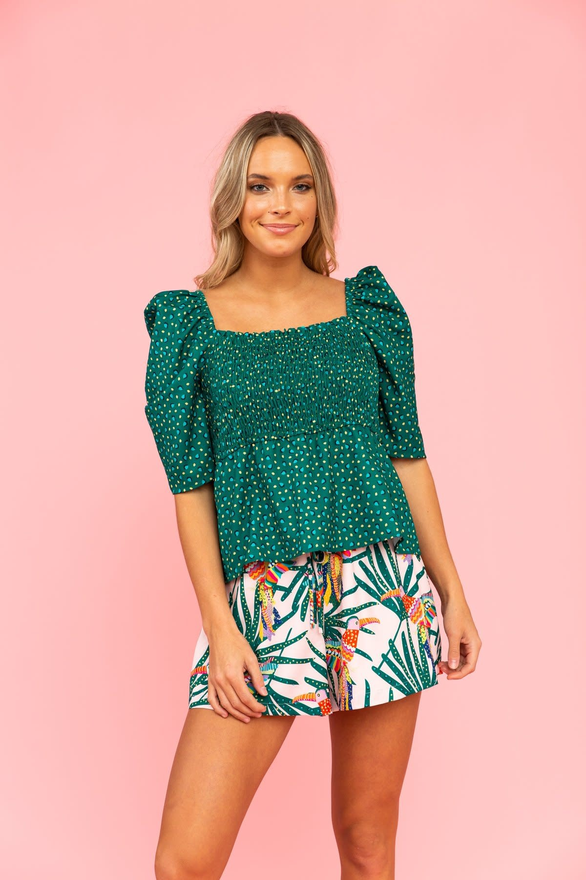 Crosby By Mollie Burch Maebel Top in Aloe Leaf