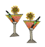 Allie Beads Citrus Martini Earrings