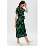 Sugarhill Brighton Lauretta Batik Shirt Dress in Palm Fronds