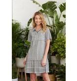 Crosby By Mollie Burch Calee Dress in Salt Stripe