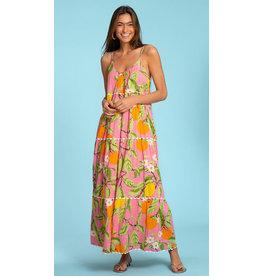 Olivia James the Label Emily Long Dress Citrus Garden