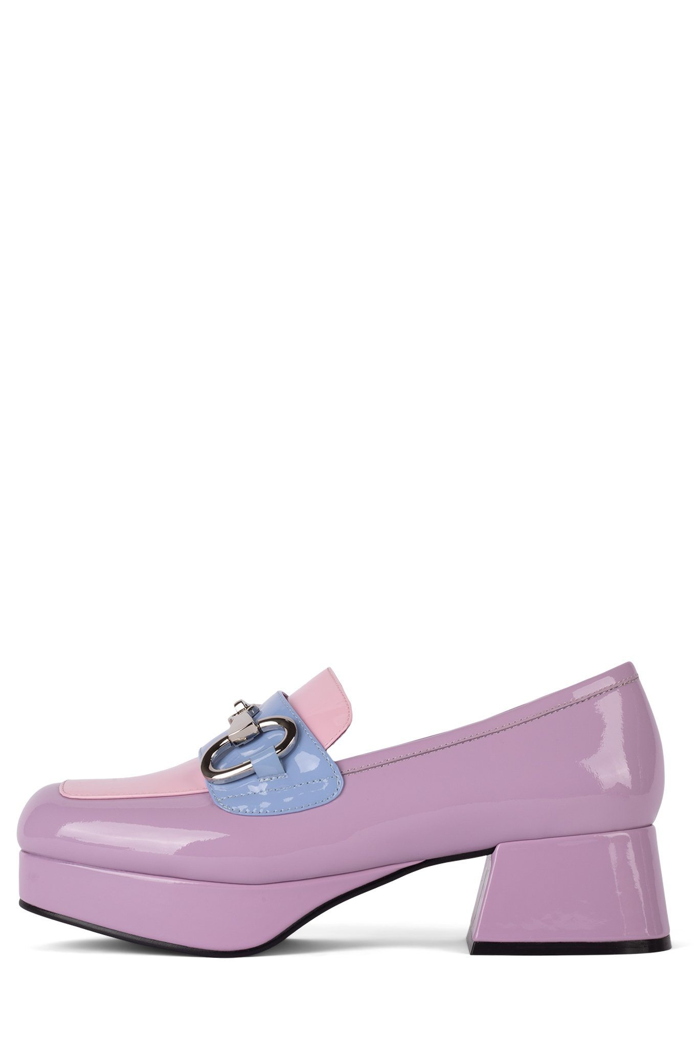 Jeffrey Campbell Student-2 Lilac Pink Prwkl Patent Combo