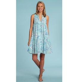 Olivia James the Label Ro Short Dress Sky Magnolia Shadow