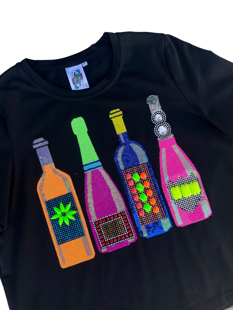 Queen of Sparkles Neon Bottles Tee