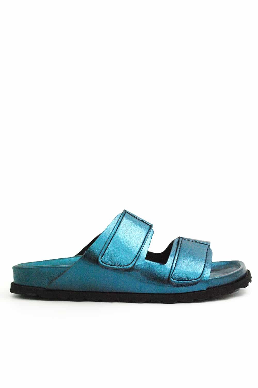 Jeffrey Campbell Tenerife Blue Metallic Sandal