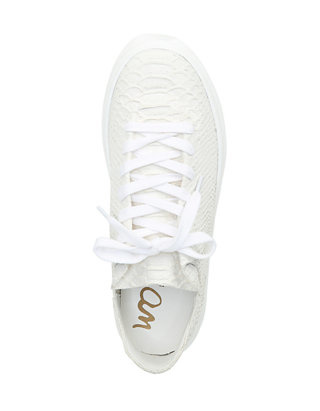 Sam Edelman Pippy White Snake Sneaker