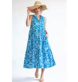 Olivia James the Label Ro Long Dress in Ocean Seaweed
