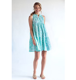 Olivia James the Label Ro Short Dress in Mist Seaweed