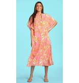 Olivia James the Label Cabana Caftan in Shadow Cotton Candy