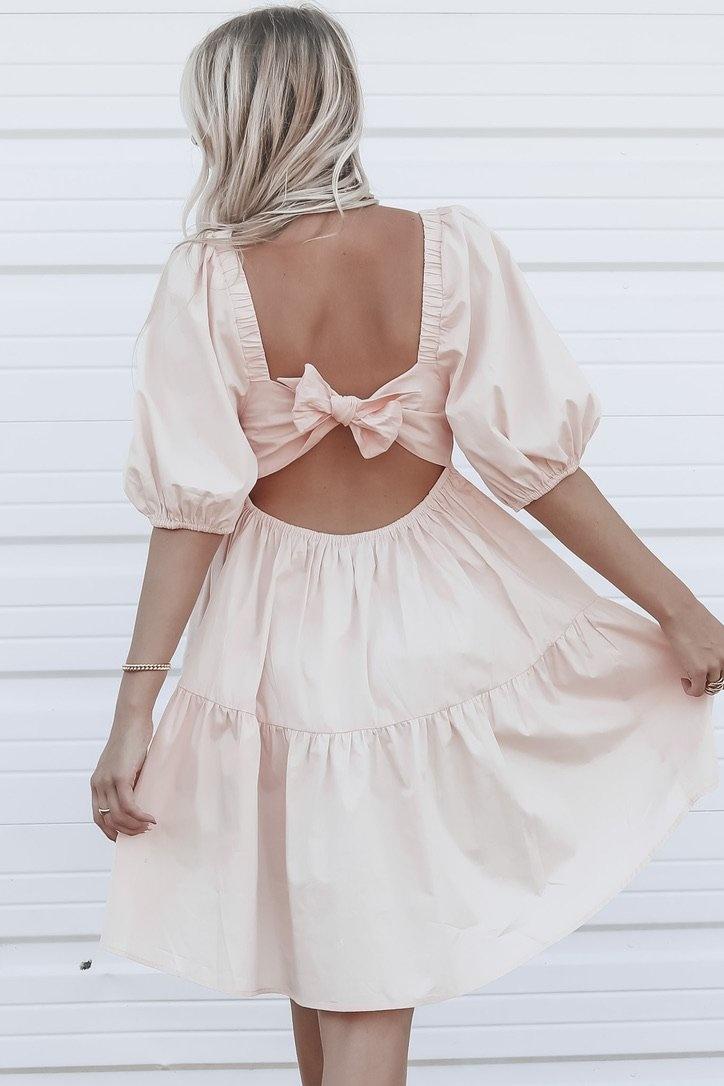 MINKPINK Issy Pink Babydoll Smock Dress