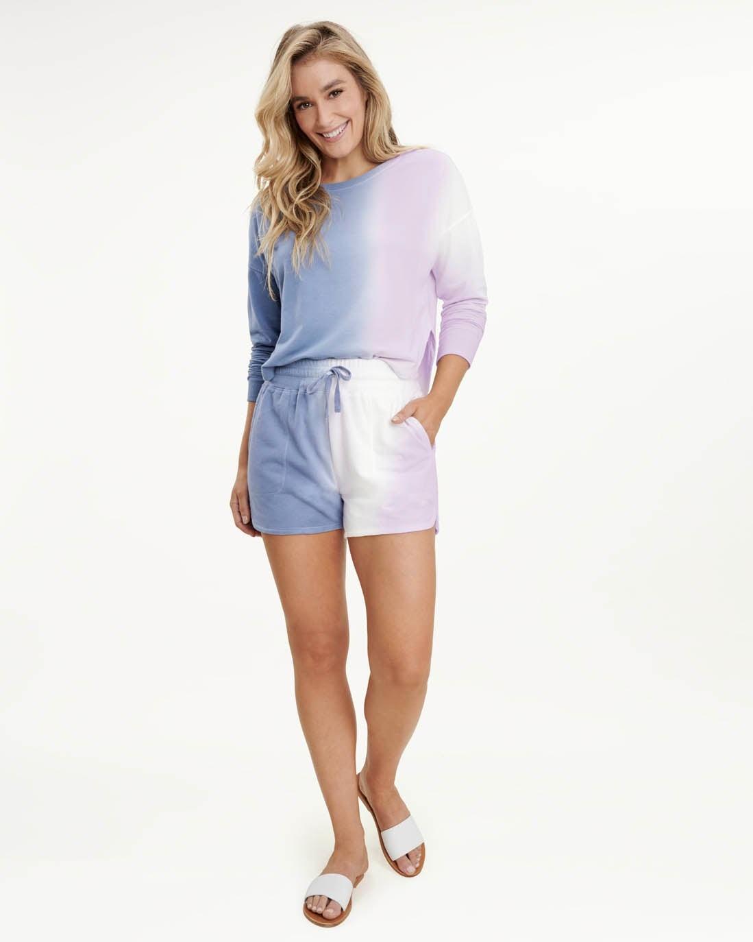 Splendid Spray Dye Pullover