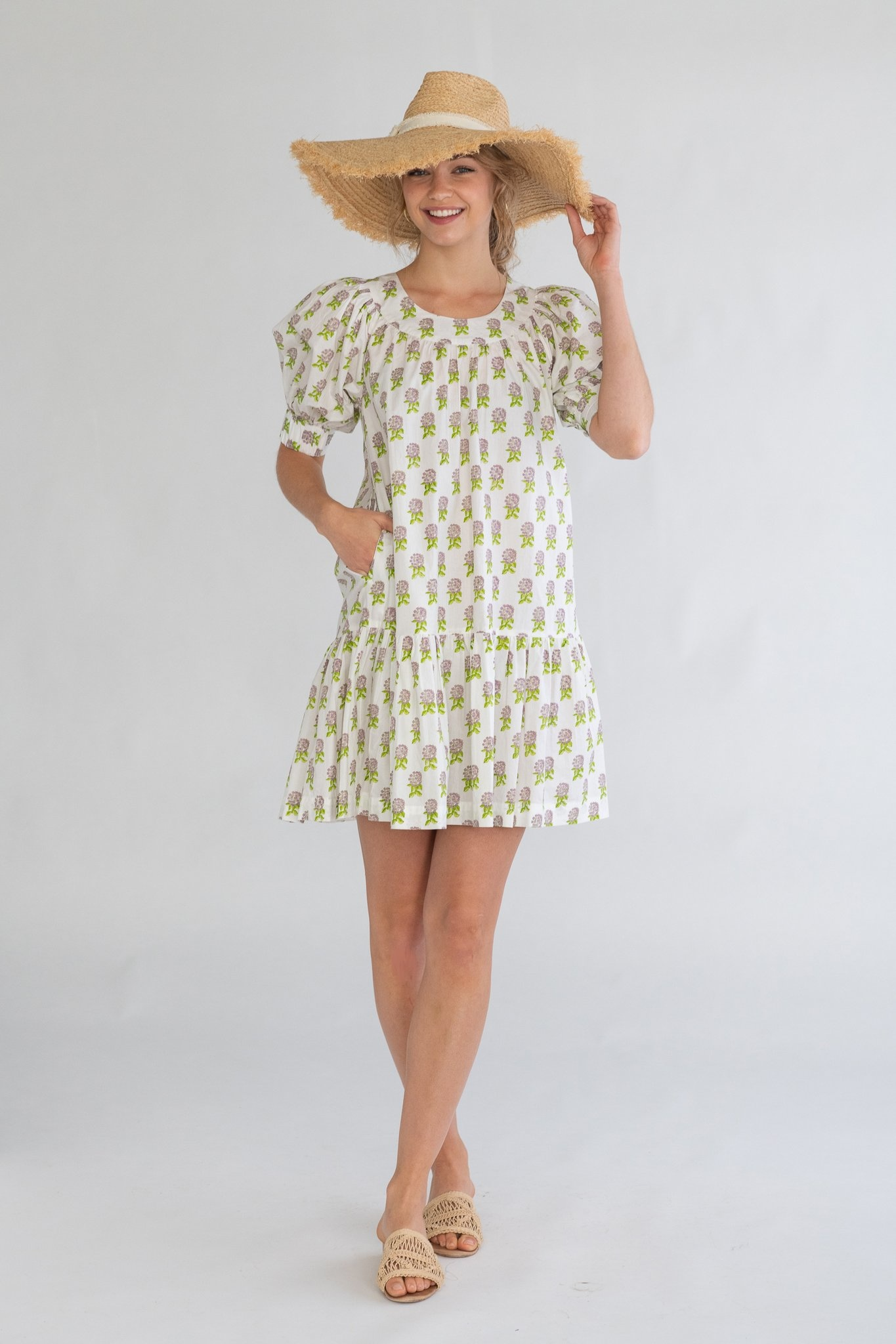 Olivia James the Label Anna Dress Mini Hydrangea Grape