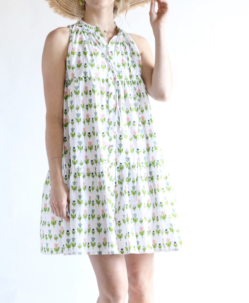 Olivia James the Label Ro Short Dress Summer Garden