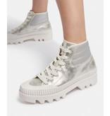 Dolce Vita Ociana Sneakers in Silver Metallic Suede