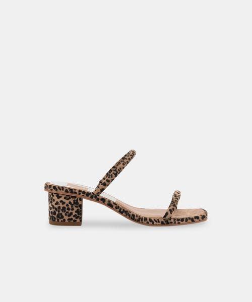 Dolce Vita Riya Sandal Dusted Leopard Suede