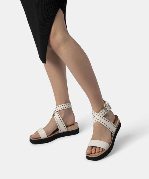 Dolce Vita Panko White Stud Sandals