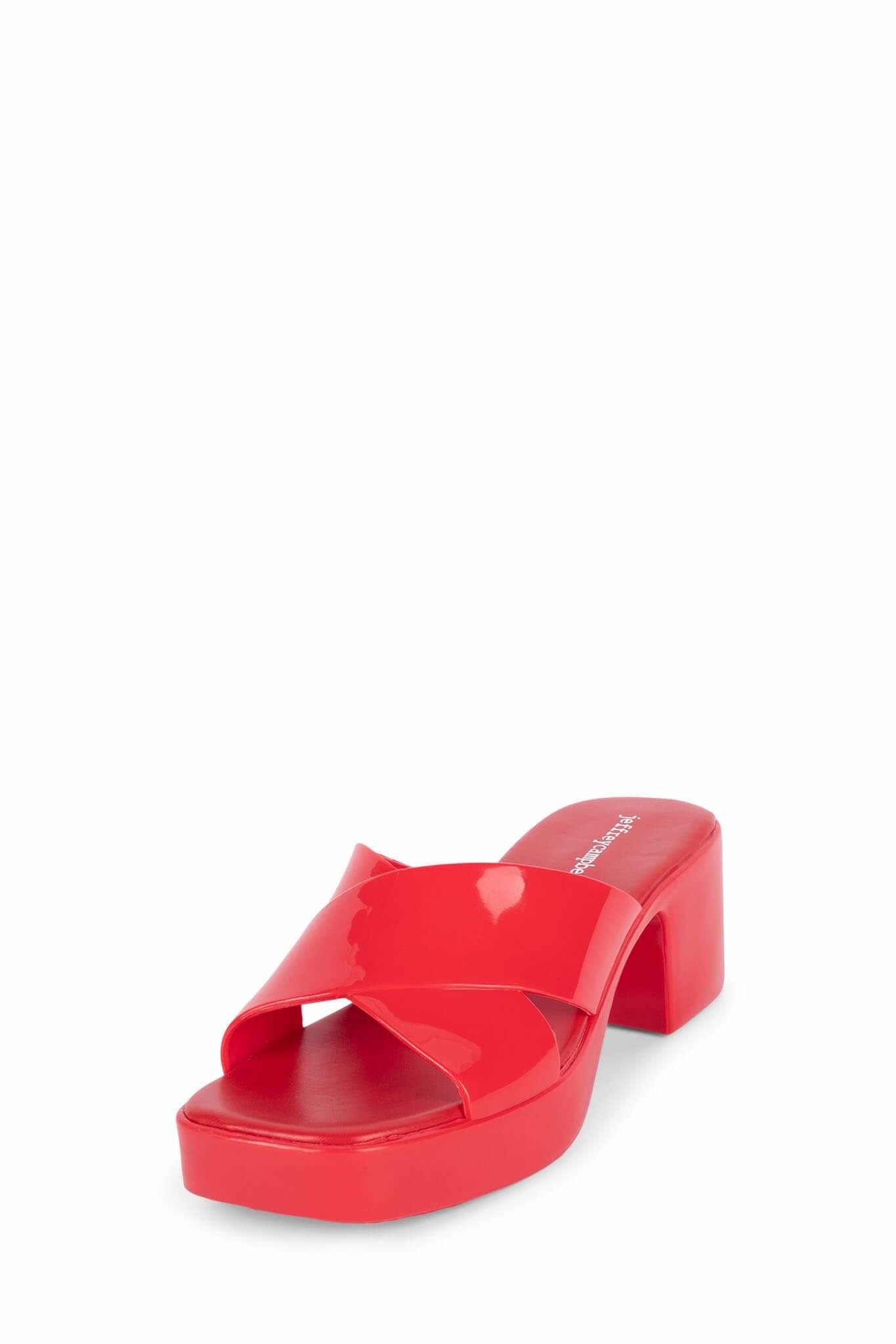 Jeffrey Campbell Bubblegum Red Jelly Sandal