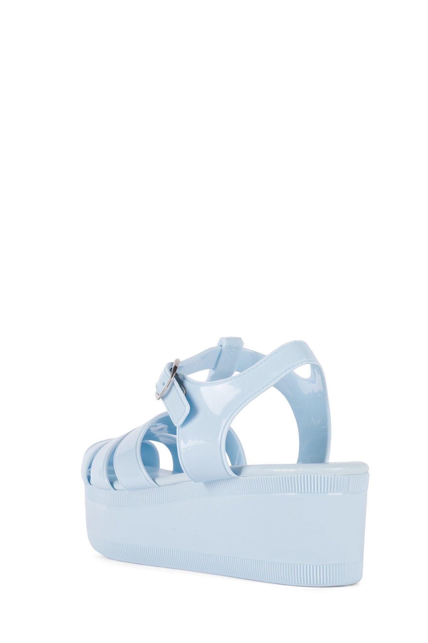 Jeffrey Campbell Candied Blue Platform Jelly Sandal