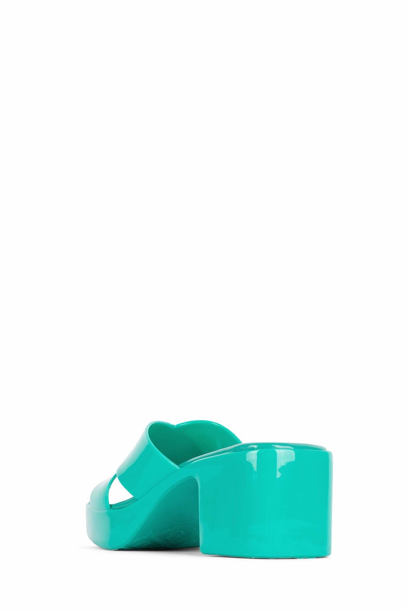 Jeffrey Campbell Bubblegum Green Jelly Sandal