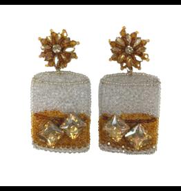 Allie Beads Whiskey Glass Earrings