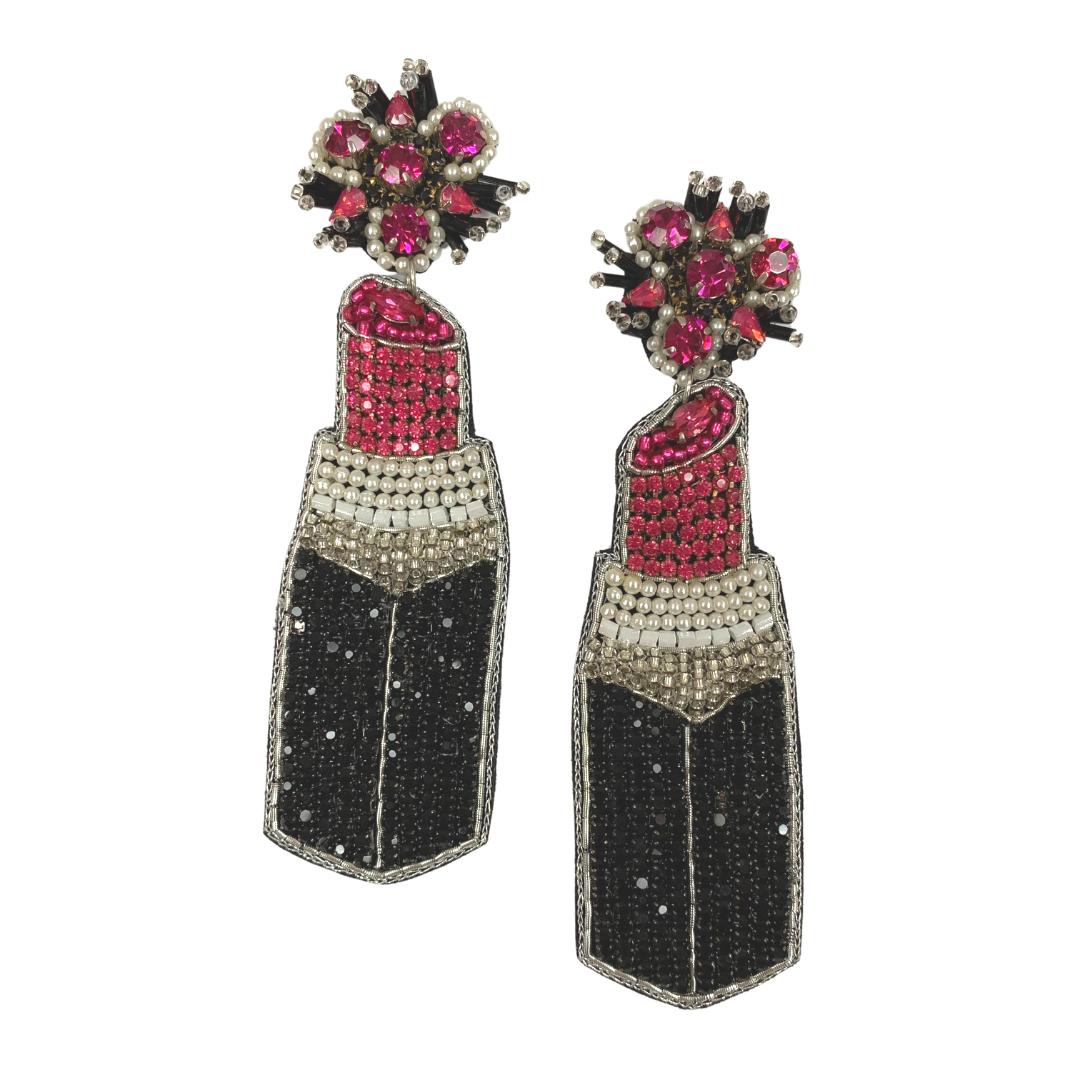 Allie Beads Lipstick Earrings