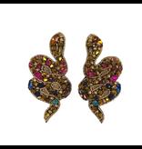 Allie Beads Multi Jeweled Snake Earrings
