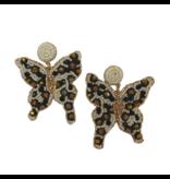 Allie Beads Leopard Butterfly Earrings