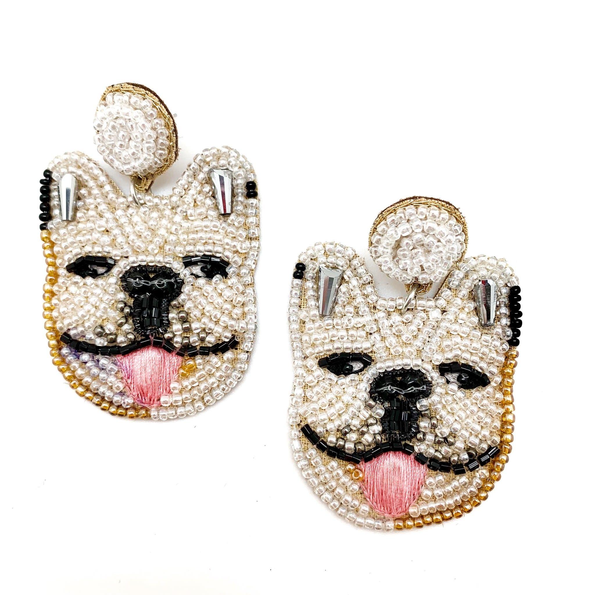 Allie Beads Bulldog Earrings