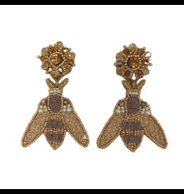 Allie Beads Neutral Moth Earrings