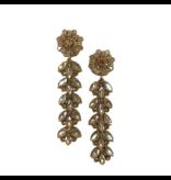 Allie Beads Champagne Jewel Drop Earrings