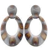 Sheila Fajl Nica Earrings Burnished Silver